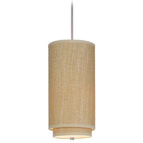 ET2 Lighting Modern Mini-Pendant Light with Brown Shade E95144-101SN