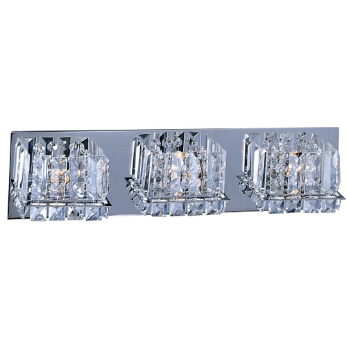 ET2 Lighting Modern Bathroom Light with Clear Glass in Polished Chrome Finish E23253-20PC
