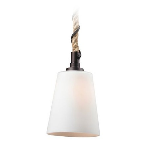 Elk Lighting Mini-Pendant Light with White Glass 63012-1