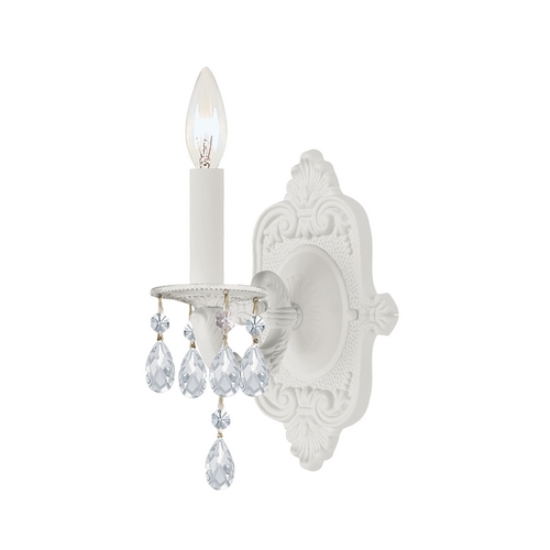 Crystorama Lighting Sconce Wall Light in Wet White Finish 5021-WW-CL-MWP