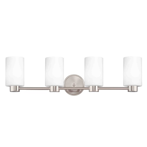 Design Classics Lighting Design Classics Lighting Aon Fuse Satin Nickel Bathroom Light 1804-09 GL1028C