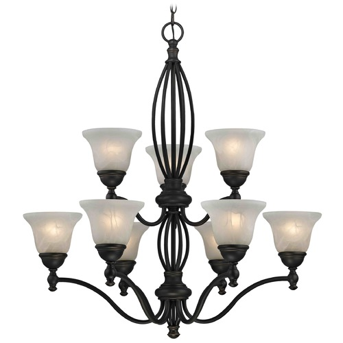 Design Classics Lighting Alabaster Glass Traditional Chandelier - Bolivian Finish 2922-78 GL1032-ALB