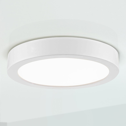 Design Classics Lighting Flat LED Light Surface Mount 6-Inch Round White 3000K 1077LM 6309-WH T16