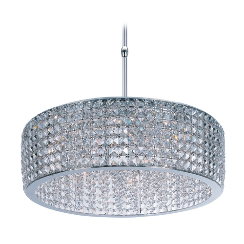 Maxim Lighting Crystal Pendant Light in Polished Chrome Finish 39935BCPC