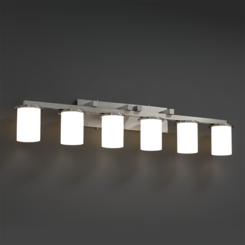 Justice Design Group Justice Design Group Fusion Collection Bathroom Light FSN-8786-10-OPAL-NCKL