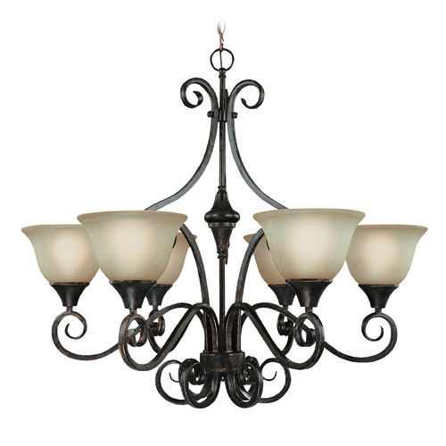 Jeremiah Lighting Jeremiah Torrey Burnished Armor Chandelier 24926-BA