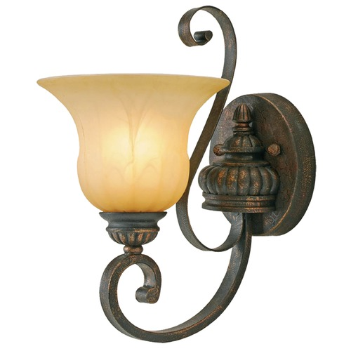 Golden Lighting Golden Lighting Mayfair Leather Crackle Sconce 7116-1W LC