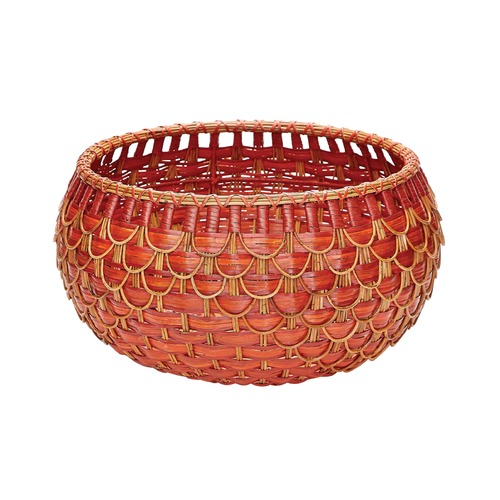 Dimond Lighting Medium Fish Scale Basket In Red And Orange 466052