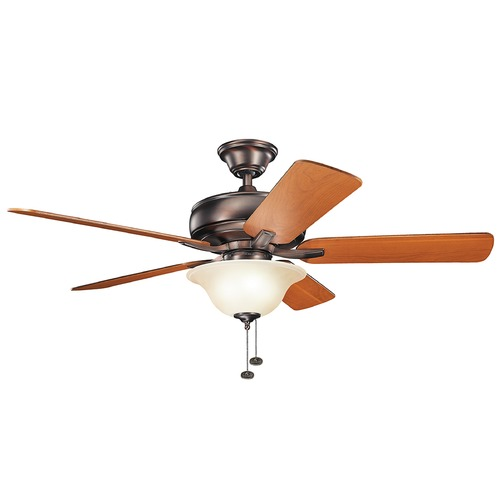 Kichler Lighting Kichler Lighting Terra Select Oil Brushed Bronze Ceiling Fan with Light 330248OBB