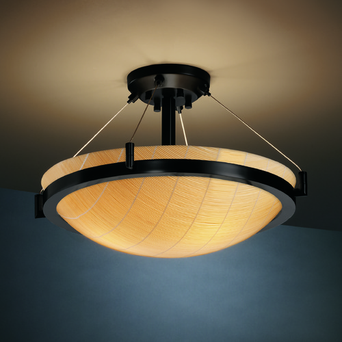 Justice Design Group Justice Design Group Ring Family Matte Black Semi-Flushmount Light 3FRM-9681-35-TAKE-MBLK