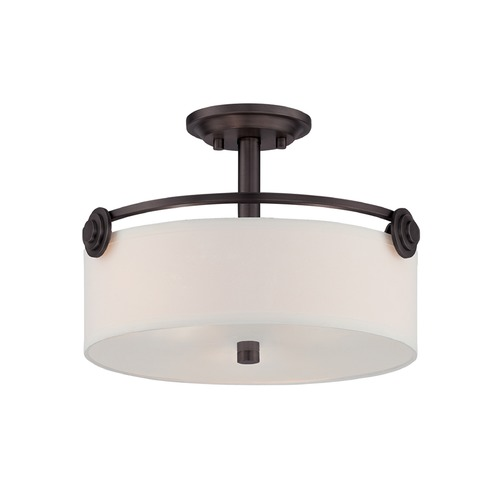 Designers Fountain Lighting Designers Fountain Gramercy Park Old English Bronze Semi-Flushmount Light 87111-OEB