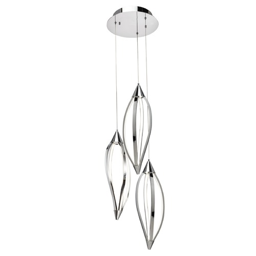 Elan Lighting Elan Lighting Meridian Chrome LED Multi-Light Pendant 83388