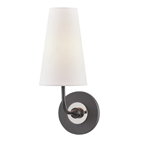 Mitzi by Hudson Valley Mitzi By Hudson Valley Mitzi Merri Polished Nickel / Black Sconce H318101-PN/BK