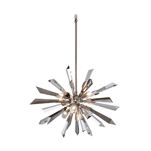 Corbett Lighting Corbett Lighting Inertia Silver Leaf Finish Island Light 140-46