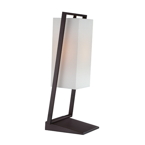 Lite Source Lighting Lite Source Lighting Branko Black Table Lamp with Rectangle Shade LS-22058