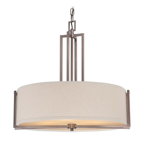 Nuvo Lighting Modern Drum Pendant Lights in Hazel Bronze Finish 60/4856