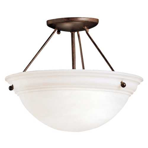 Kichler Lighting Kichler Two-Light Semi-Flush Ceiling Light 3718TZ
