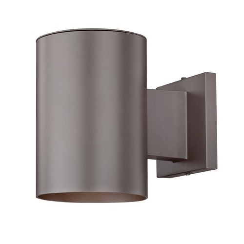 Design Classics Lighting Bronze Cylinder Outdoor Wall Down Light with LED Light Bulb 5051 PCB  LED