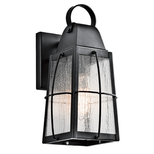 Kichler Lighting Kichler Lighting Tolerand Textured Black Outdoor Wall Light 49552BKT