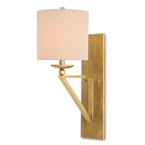Currey and Company Lighting Currey and Company Lighting Anthology Vintage Brass Sconce 5181