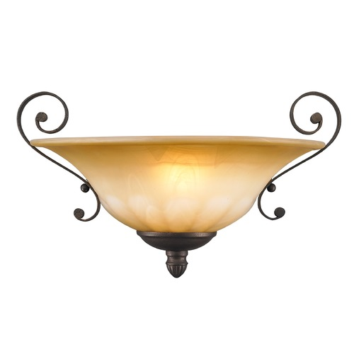 Golden Lighting Golden Lighting Mayfair Leather Crackle Sconce 7116-WSC LC