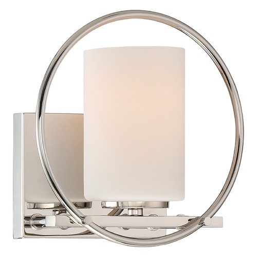Quoizel Lighting Quoizel Parallel Polished Nickel Sconce PRL8601PK