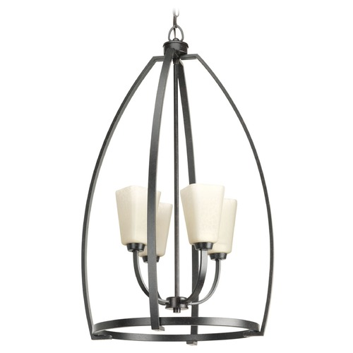 Progress Lighting Progress Lighting Ridge Espresso Pendant Light with Square Shade P3571-84