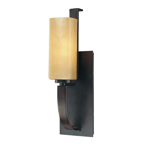 Minka Lavery Sconce with Beige / Cream Glass in Aged Kinston Bronze Finish 6471-298