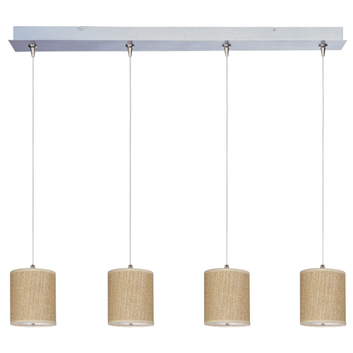 ET2 Lighting Modern Low Voltage Multi-Light Pendant Light with Brown Tones Shades and 4-Lights E95499-101SN