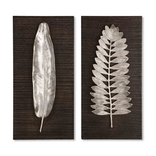 Uttermost Lighting Wall Art in Brushed Aluminum Finish 04001