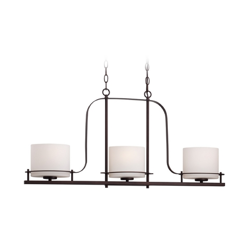 Nuvo Lighting Island Light with White Glass in Venetian Bronze Finish 60/5006