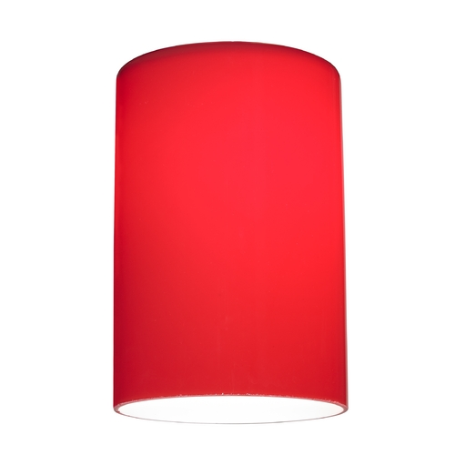 Design Classics Lighting Red Glass Shade - Lipless with 1-5/8-Inch Fitter Opening GL1008C