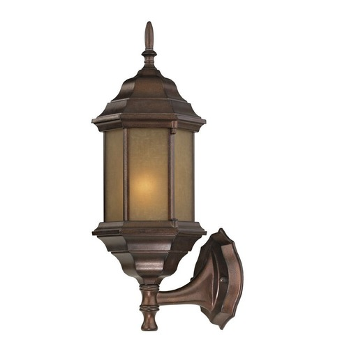 Design Classics Lighting Outdoor Traditional Wall Light with LED Bulb - 18-Inches Tall 6224 AT  LED
