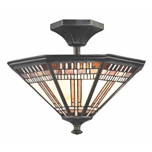 Design Classics Lighting Tiffany Bronze Finish Ceiling Light  1654 TB