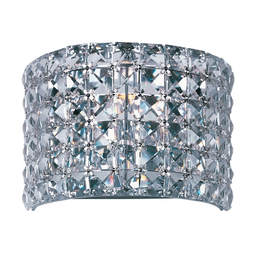 Maxim Lighting Crystal Sconce Wall Light in Polished Chrome Finish 39938BCPC