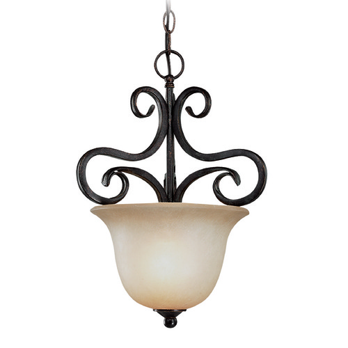 Jeremiah Lighting Jeremiah Torrey Burnished Armor Pendant Light with Bell Shade 24931-BA