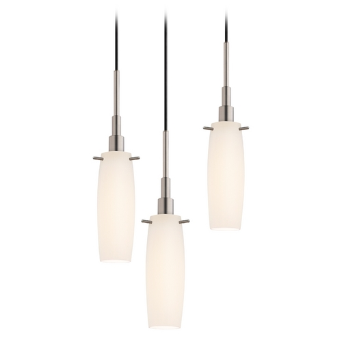 Sonneman Lighting Modern Multi-Light Pendant Light with White Glass and 3-Lights 3552.13-3