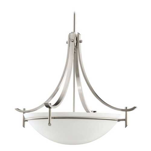 Kichler Lighting Kichler Modern Pendant Light with White Glass in Antique Pewter Finish 3278AP