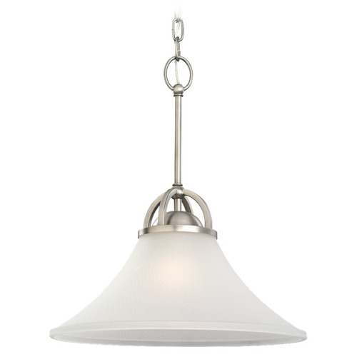 Sea Gull Lighting Sea Gull Lighting Somerton Antique Brushed Nickel Pendant Light with Coolie Shade 65375BLE-965
