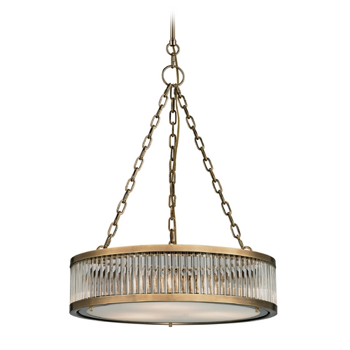 Elk Lighting Pendant Light in Aged Brass Finish 46125/3