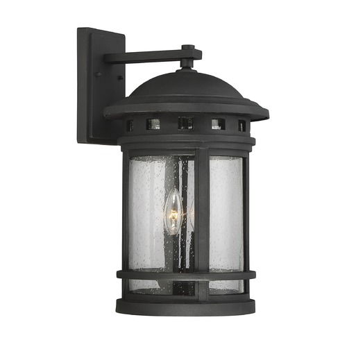 Savoy House Seeded Glass Outdoor Wall Light Black Savoy House 5-364-BK