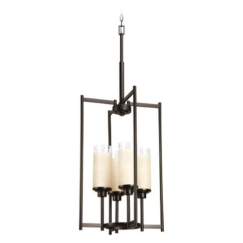 Progress Lighting Progress Lighting Alexa Antique Bronze Pendant Light with Cylindrical Shade P3977-20