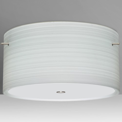 Besa Lighting Besa Lighting Tamburo Satin Nickel LED Semi-Flushmount Light 1KM-4008KR-LED-SN