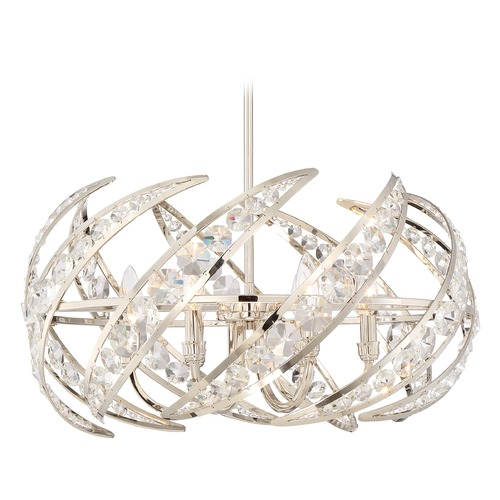 Quoizel Lighting Quoizel Lighting Platinum Collection Crescent Polished Nickel Pendant Light PCCN2824PK