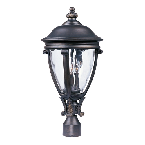 Maxim Lighting Post Light with Clear Glass in Golden Bronze Finish 41421WGGO