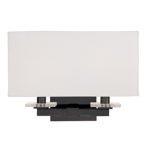 Hudson Valley Lighting Modern Sconce Wall Light with White Shades in Old Bronze Finish 392-OB