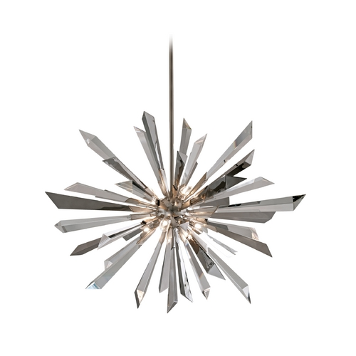 Corbett Lighting Corbett Lighting Inertia Silver Leaf Finish Island Light 140-48