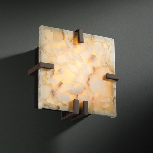 Justice Design Group Justice Design Group Alabaster Rocks! Collection Sconce ALR-5550-DBRZ