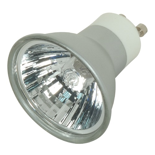 Satco Lighting 50-Watt MR16 Flood Halogen Light Bulb with GU10 Base S4182