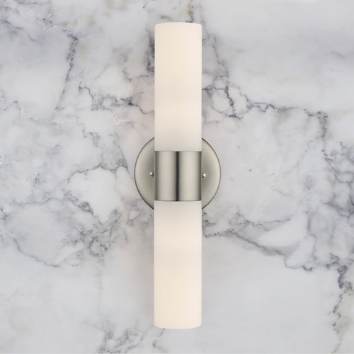 Design Classics Lighting Satin Nickel Bathroom Light - Vertical or Horizontal Mounting 115-09